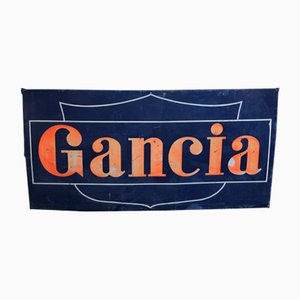 Vintage Large Enameled Gancia Sign from Artemail