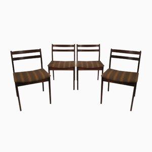 Dänische Mid-Century Palisander Stühle, 1960er, 4er Set