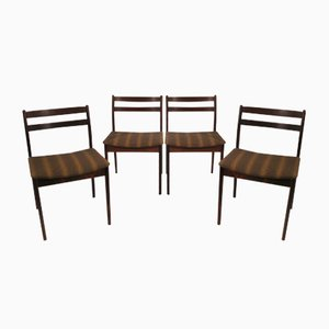 Mid-Century Danish Rosewood Chairs, 1960s, Set of 4