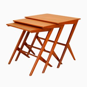 Danish Nesting Tables by Bengt Ruda, 1950s