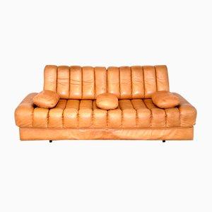 Sofá cama DS85 de cuero coñac de de Sede, años 60