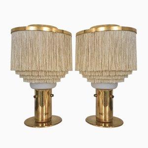Lampes de Bureau Modèle B-145 à Franges par Hans-Agne Jakobsson, 1960s, Set de 2