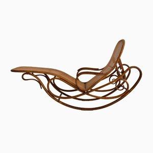 Sedia a dondolo modello 7500 antica di Thonet