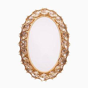 Specchio vintage dorato ed illuminato di Palwa, anni '60