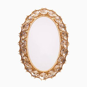 Vintage Gold-Plated Illuminated Mirror from Palwa, 1960s