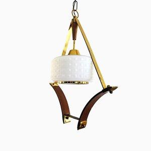 Lámpara de suspensión italiana, años 50