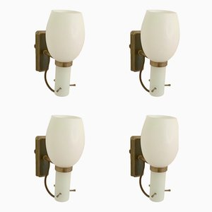 Wall Lights from Stilnovo, 1950s, Set of 4