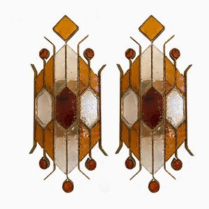 Italian Sconces from Longobard, 1970s, Set of 2
