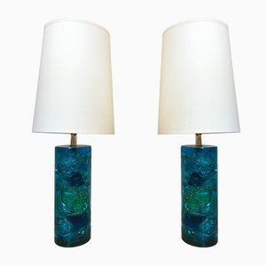French Table Lamps, 1970s, Set of 2