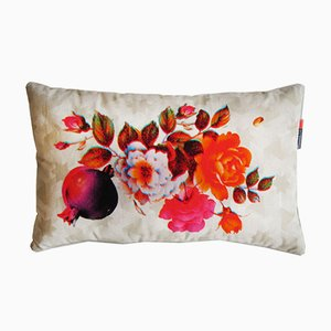 Rimen Flower Orange Cushion by Rana Salam
