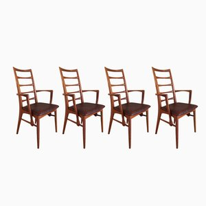 Lis Carver Chairs by Niels Koefoed, 1960s, Set of 4