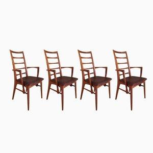 Lis Carver Stühle von Niels Koefoed, 1960er, 4er Set