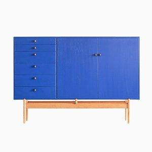 Armadio blu di Tove & Edvard Kindt-Larsen per Säffle Möbelfabrik, anni '60