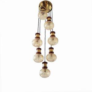 Lampada da soffitto con 7 sfere, anni '70