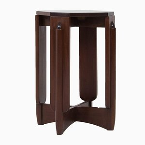 Mesa pedestal modernista de caoba de Hildo Krop, años 20