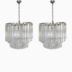 Lampes à Suspension par Paolo Venini, 1960s, Set de 2