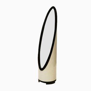 Espejo Unghia pequeño con lámpara, años 70