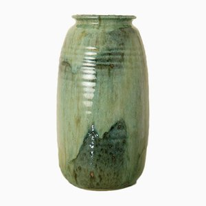 Vaso vintage in gres smaltato, Francia, anni '80