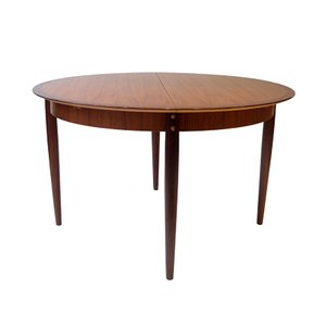 Mid-Century French Round Dining Table, 1960s