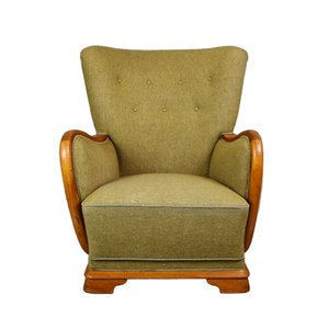 Vintage French Club Chair, 1940s