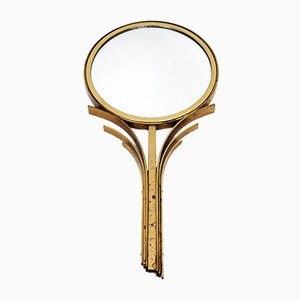 Art Deco Swedish Hand Mirror in Brass by Ivar Ålenius Björk for Ystad-Metall, 1930s