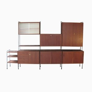 Mid-Century Teak Wall Unit from Omnia, 1960s