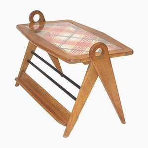 Scoubidou & Wood Coffee Table, 1950s