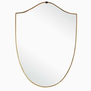 Italian Brass Wall Mirror, 1960s