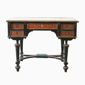 Kleiner Napoleon III Schreibtisch mit Boulle Intarsien, 19. Jh.