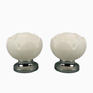 Lámpara de mesa Seerose de Peill & Putzler, años 60. Juego de 2