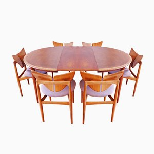 Butterfly Dining Set by Kurt Østervig for Brande Møbelindustri, 1955, Set of 7