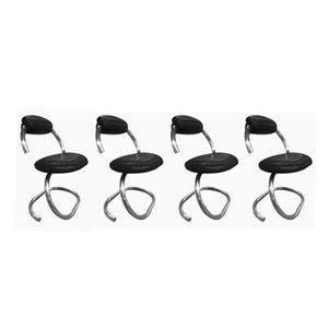 Italienische Cobra Stühle von Giotto Stoppino, 1970er, 4er Set