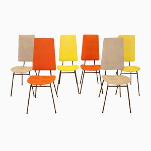 Highback Chairs by Jacques Hitier, 1950s, Set of 6