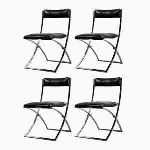 Vintage Foldable Chairs by Marcello Cuneo for Mobel Italia, Set of 4