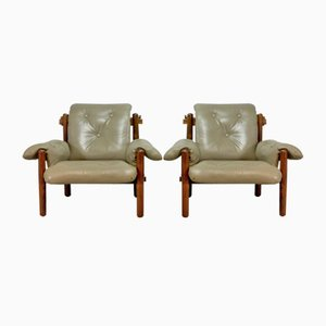 Brazilian Jacarandá Lounge Chairs by Jean Gillon for Wood Art, 1960s, Set of 2