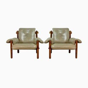 Sessel aus Brasilianischem Palisander von Jean Gillon für Wood Art, 1960er, 2er Set