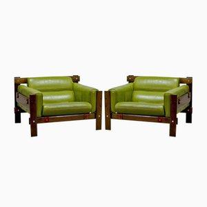 Imboya Sessel aus Holz von Percival Lafer für L'atelier, 1970er, 2er Set