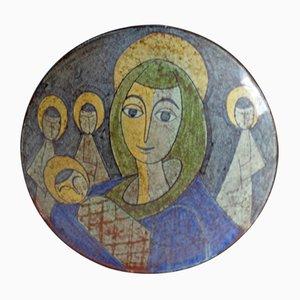 Dänische Schale mit Maria Darstellung von MA&S, 1960er