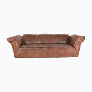 Vintage Brown Leather Sofa by Gerard van den Berg for Montis, 1970s