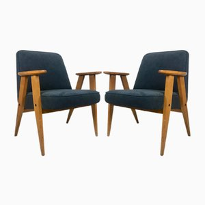 Mid-Century 366 Armchairs by Józef Chierowski, 1960s, Set of 2