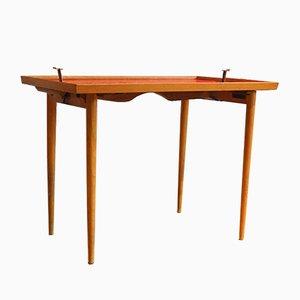 Table d'Appoint Pliante Mid-Century, 1950s