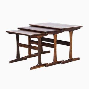 Tavolini a incastro di Kai Kristiansen per Vildbjerg Møbelfabrik, anni '60