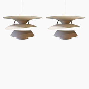 Mid-Century Charlottenborg PH5-4½ Pendants by Sophus Frandsen & Ebbe Christensen for Louis Poulsen, Set of 2
