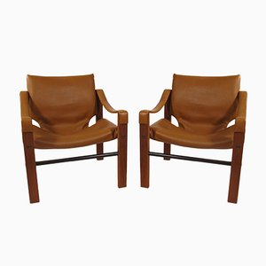 Safari Armchairs by Maurice Burke for Arkana, 1960s, Set of 2