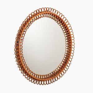 Mid-Century Italian Riviera Bamboo Mirror, 1960s