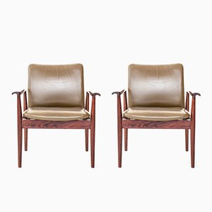 Diplomat Chairs by Finn Juhl for France & Søn, 1964, Set of 2