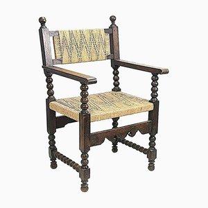 Französischer Sessel aus Buche & Seil, 1960er