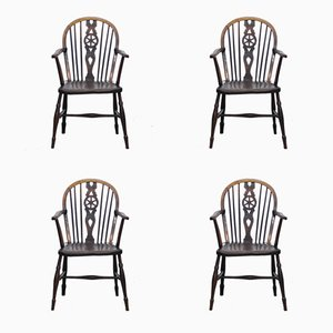 19th-Century Windsor Dining Chairs, Set of 4