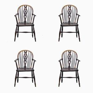 Windsor Esszimmer Stühle aus 19. Jhdt., 4er Set