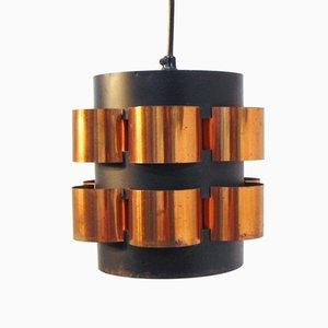 Lámpara danesa en negro y dorado de Fog & Mørup, años 60